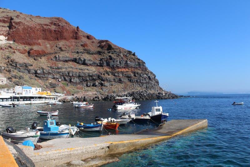 Port Oia, Santorini royaltyfri fotografi