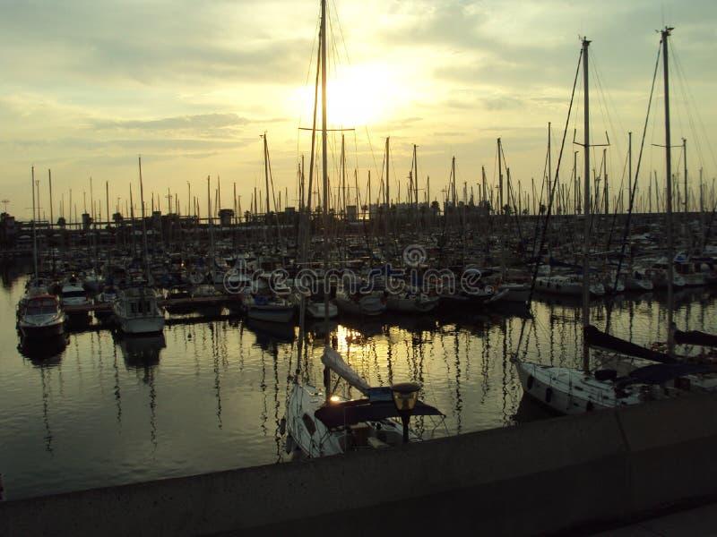 Port Olímpic in Barcelona stock images
