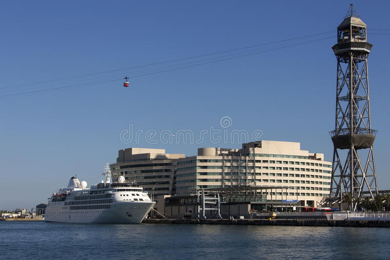 Port Olimpic - Barcelona - Spain stock images