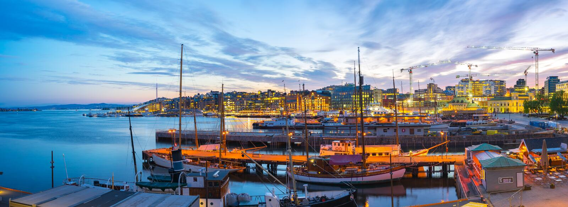 Port Oslo miasto w Norwegia zdjęcia royalty free