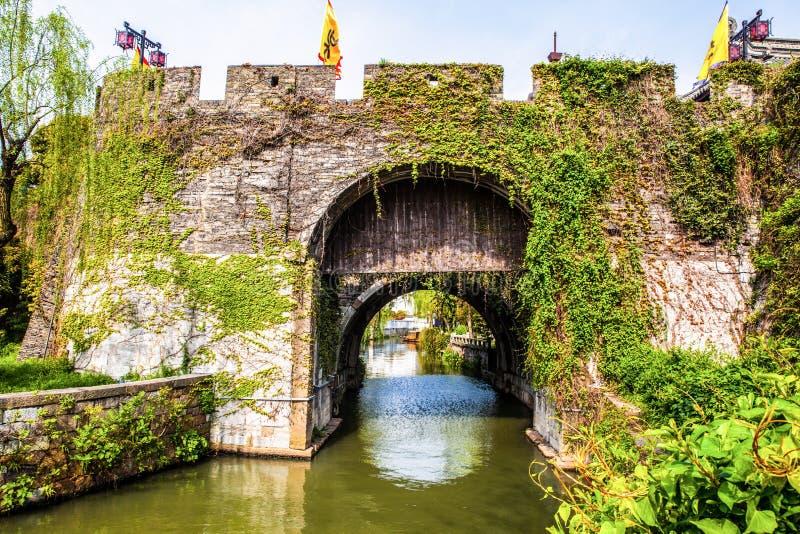 Port-panna för forntida stad port royaltyfri fotografi