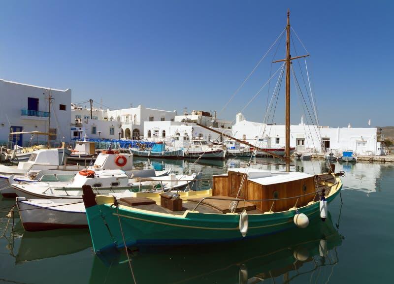 Port Parikia, Paros wyspa, Grecja obrazy royalty free