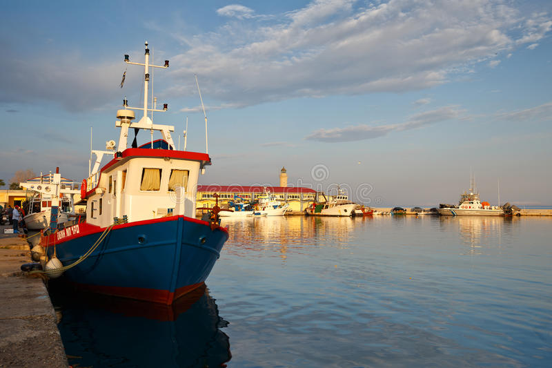 Port in Patras. royalty free stock photography