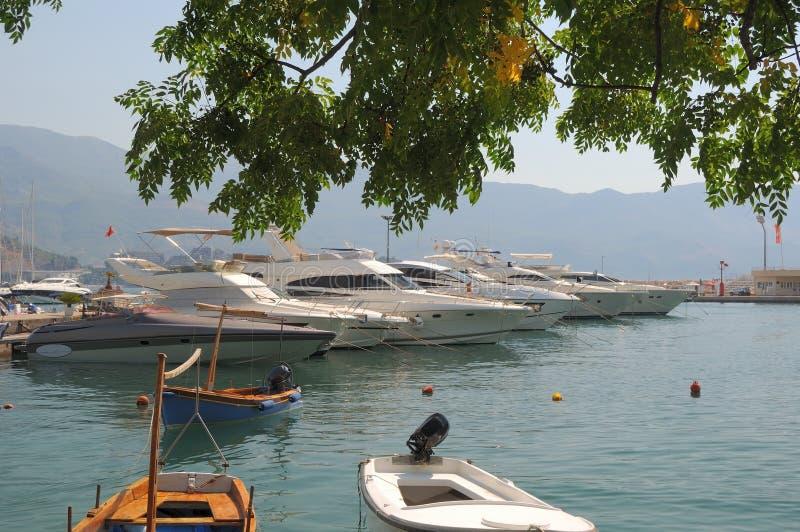 Port of Petrovac, Montenegro stock photo