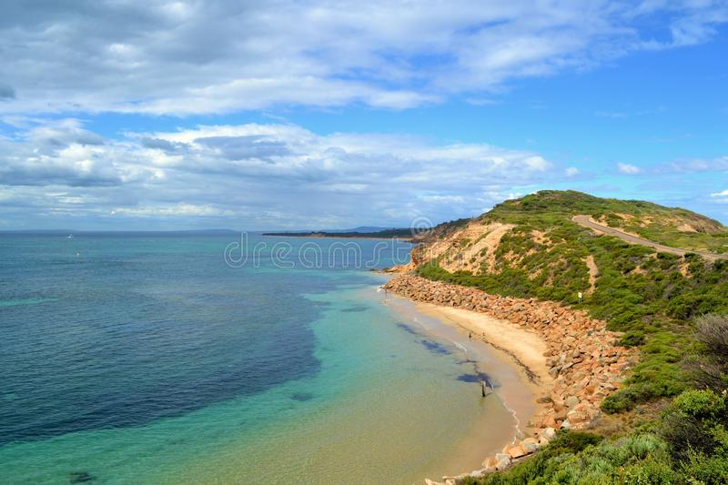 Point Nepean National Park. Port Phillip Bay's point nepean national park coastline, Melbourne Australia royalty free stock images