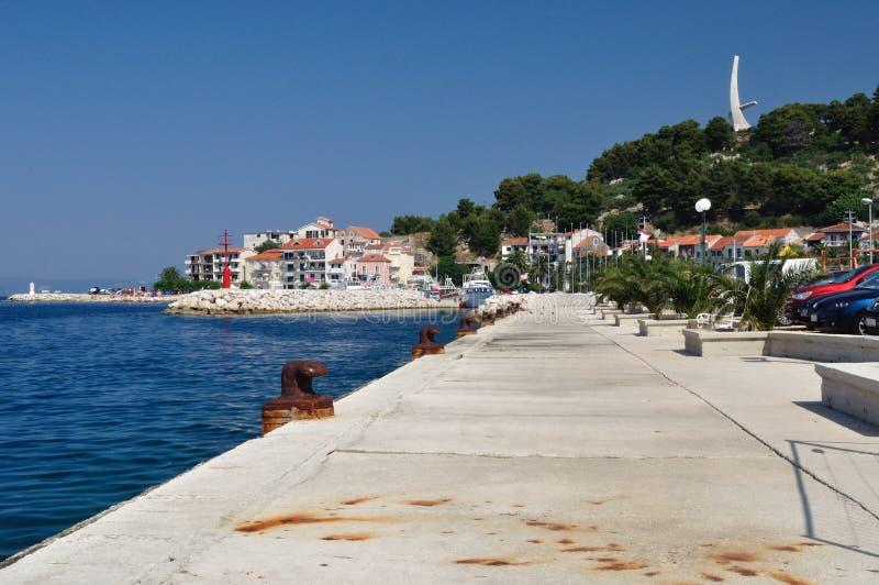 Port Podgora obraz royalty free