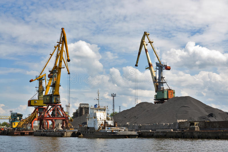 Download Port. Portal cranes stock photo. Image of embarcation - 11109108