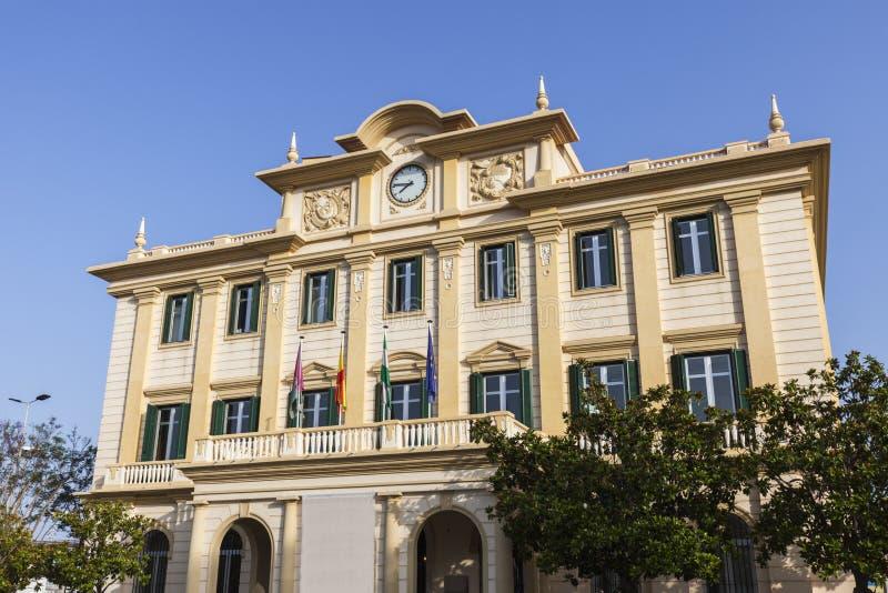 Port prac deska w Malaga obrazy royalty free