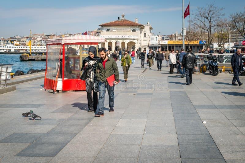 Port proche carré de Kadikoy à Istanbul, Turquie photographie stock