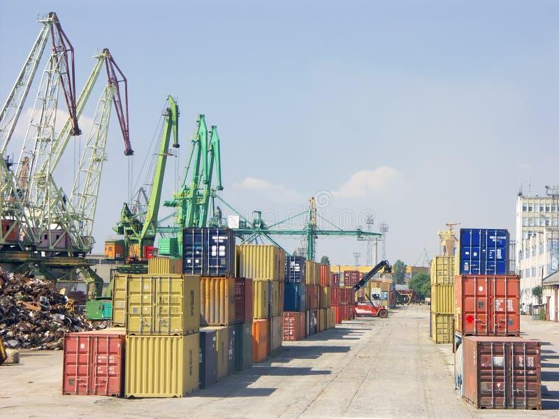 port przeładunku zdjęcie stock