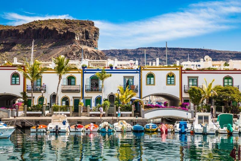 Port in Puerto de Mogan, Gran Canaria, Spagna immagini stock