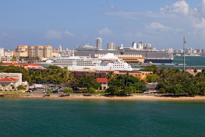 port Puerto Rico royaltyfria bilder