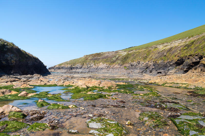 Port Quin Cornwall England photographie stock