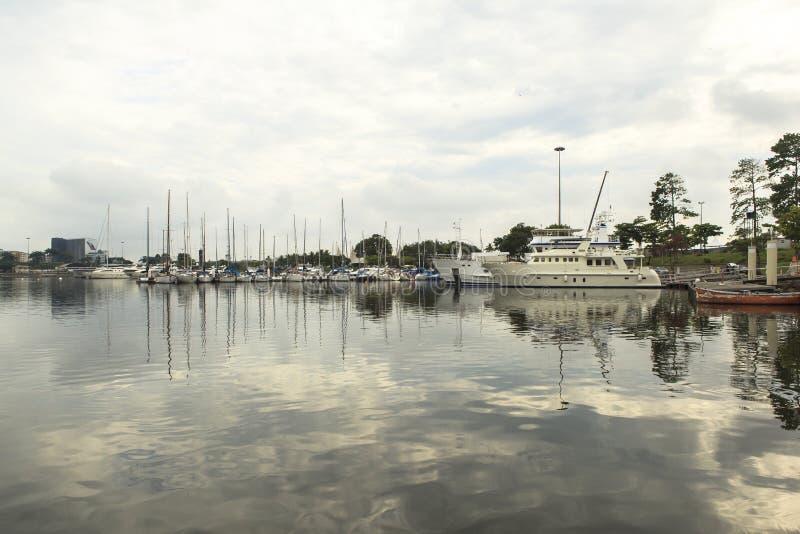 Port rejs przy Guanabara zatoką w Rio De Janeiro, Brazylia obrazy royalty free