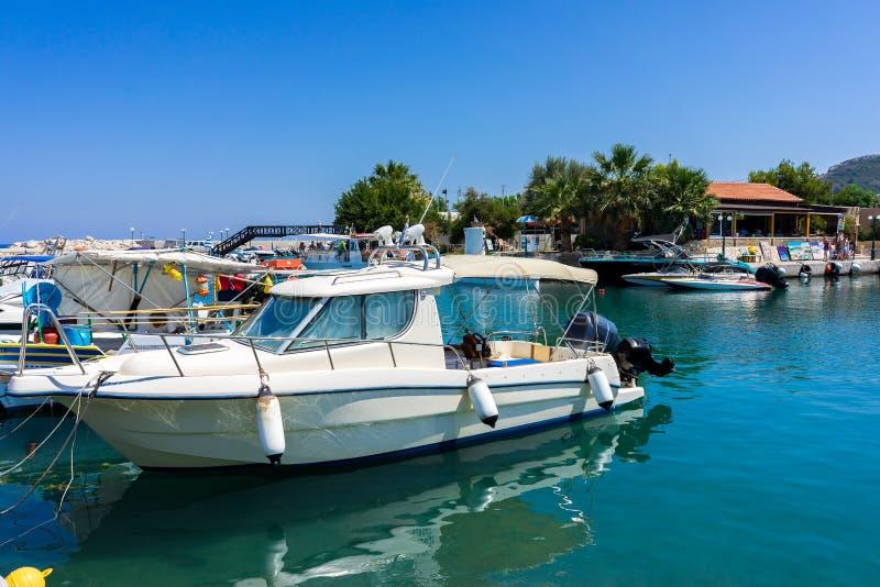 Port Rhodes de Faliraki images libres de droits