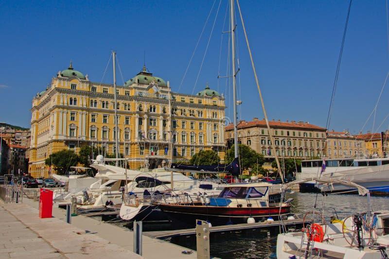 Port of rijeka, Croatia stock images