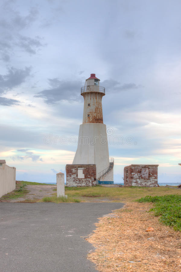 Port Roayl Lighthouse. This image was taken of the abandoned Port Royal Lighthouse Jamaica royalty free stock images