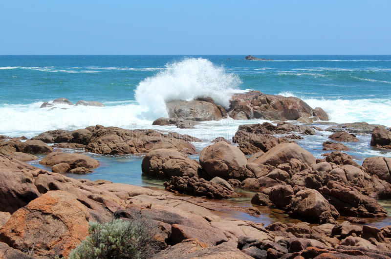 Port rocheux Smith Australie occidentale de littoral photos libres de droits