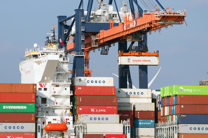 Harbor Freight Gantry Crane >> Port Rotterdam Crane Shipping Editorial Stock Image ...