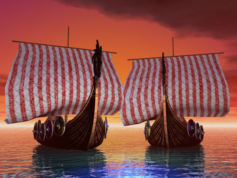 port słońca royalty ilustracja