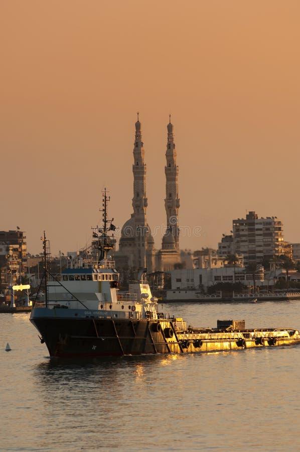 PORT SAID /EGYPT 02nd JANUARI 2007 - het Zeeleveringsschip OSA royalty-vrije stock foto's