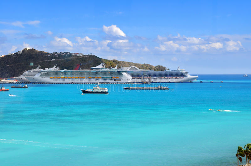 Port in Saint Martin stock photos
