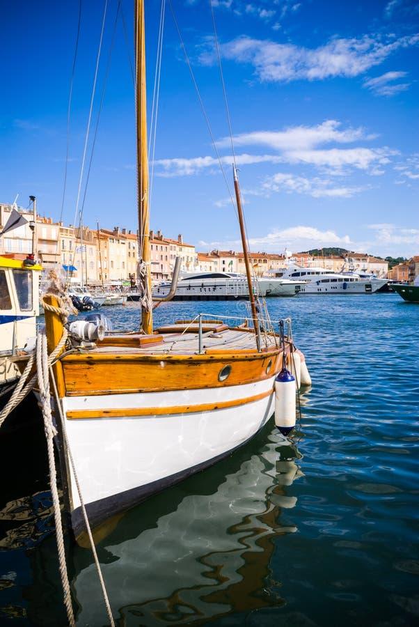 Port of Saint-Tropez, French Riviera stock photo