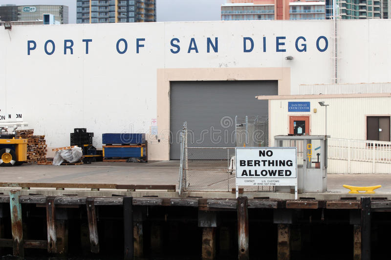 Port of San Diego. The Port of San Diego is one of America's top containership destinations. The Port of San Diego is the primary port of entry for Honda, Acura royalty free stock images