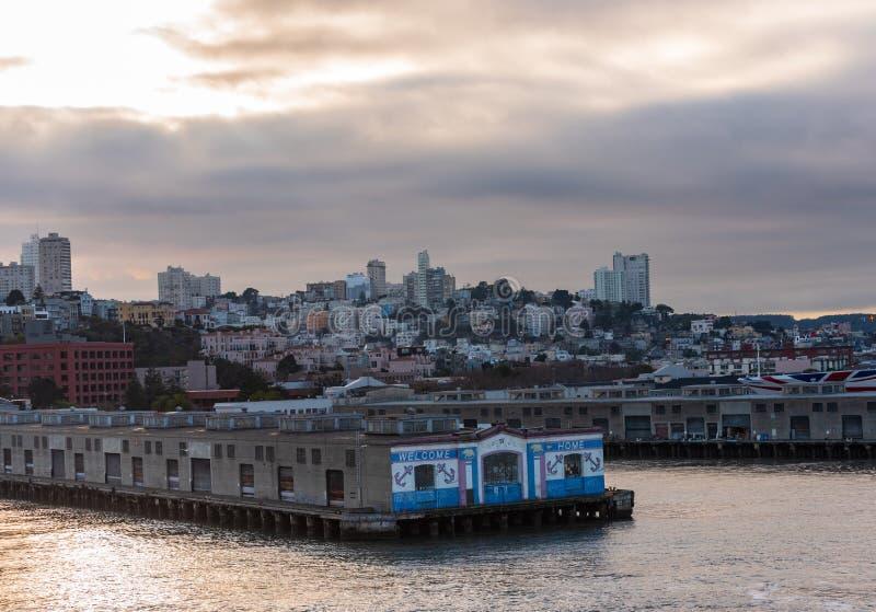 Port San Fransisco obrazy royalty free