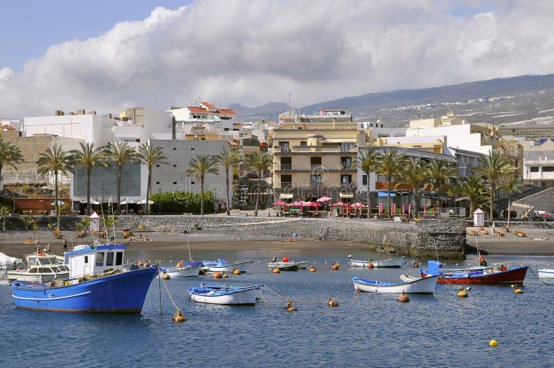 Port of San Juan at tenerife royalty free stock photography
