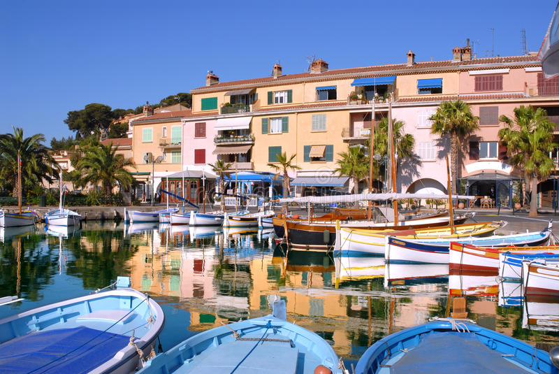 Download Port of Sanary in France stock photo. Image of moored - 13286760