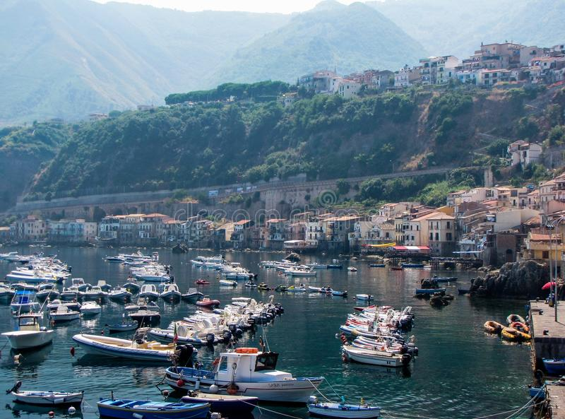 Port of Scilla, Calabria, Italy royalty free stock image