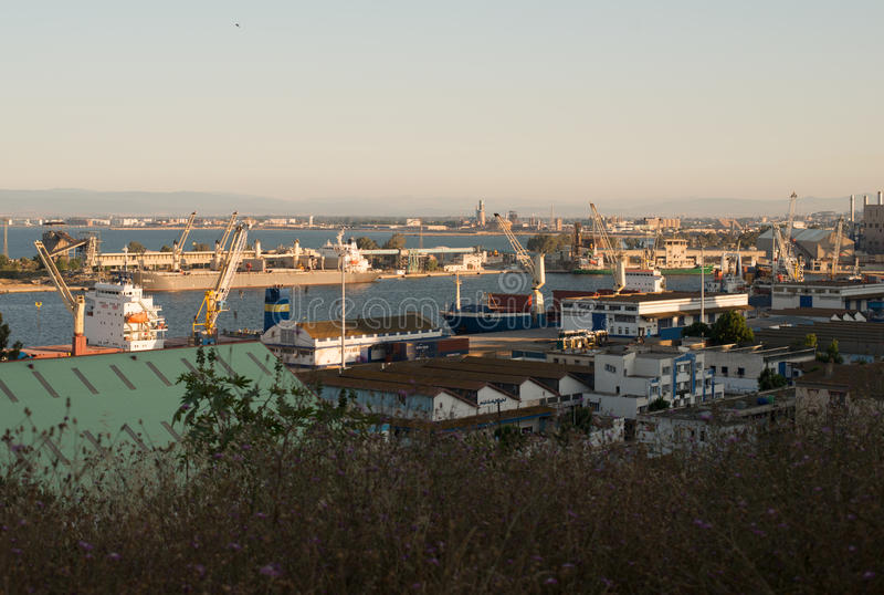 Port. Sea port in Algeria Annaba royalty free stock images