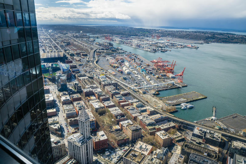 Port of Seattle royalty free stock photo