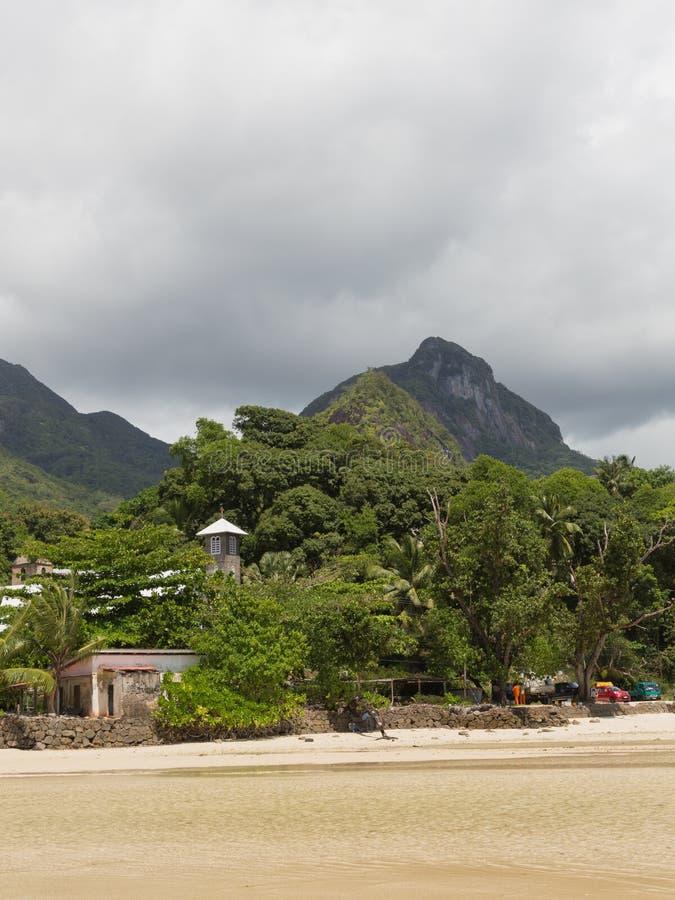 port seychelles för kustlinjeömahe arkivfoton