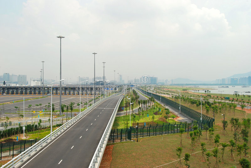 port Shenzhen bay zdjęcie royalty free