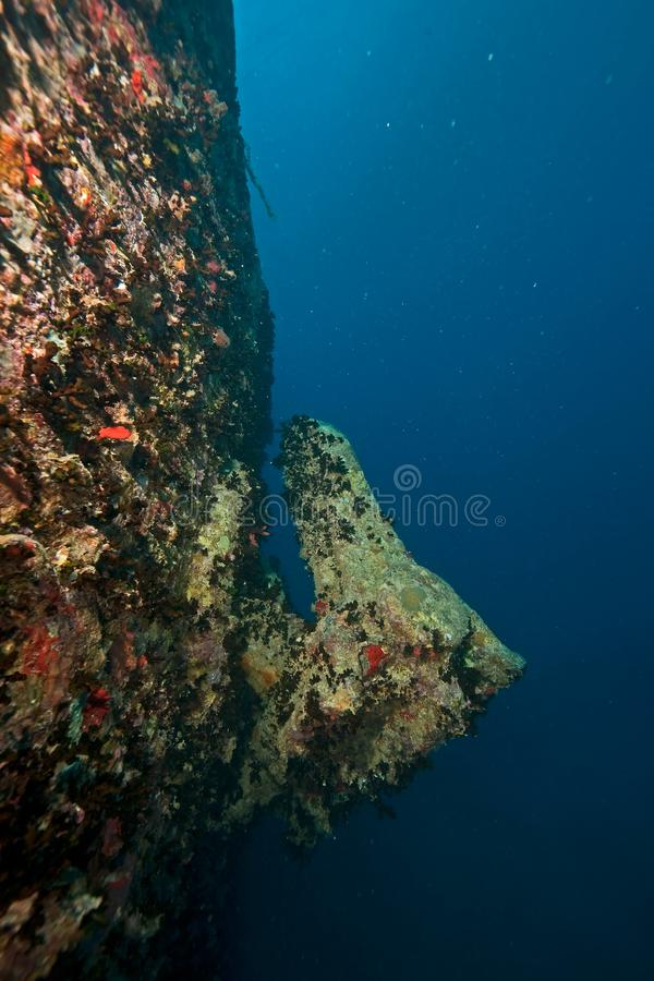 Download Port Side Hill Anchor Of The Thistlegorm Stock Image - Image of underwater, wide: 8506981