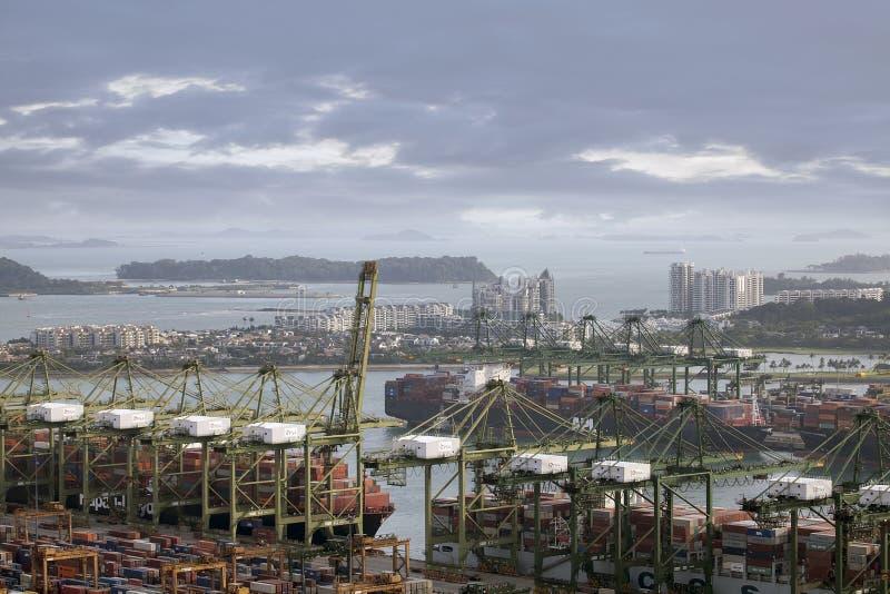 Port of Singapore royalty free stock photos
