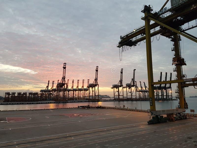 port Singapore obrazy royalty free