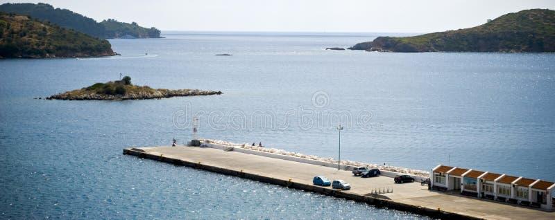 Download Port in skiathos island stock image. Image of island - 26634715