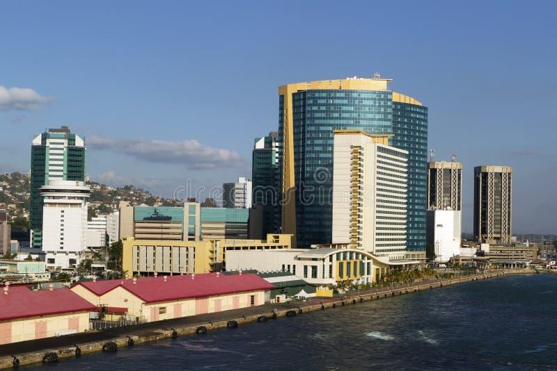 port spain trinidad royaltyfria bilder