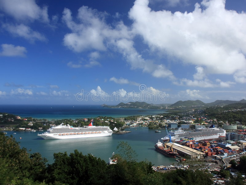 Port of St Lucia royalty free stock image
