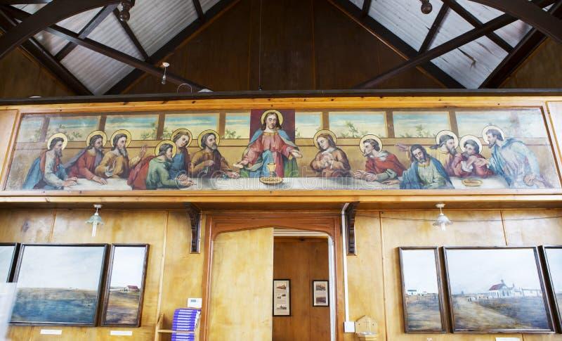 Port Stanley Falklandeilanden interieur van de katholieke kerk van St. Mary royalty-vrije stock foto