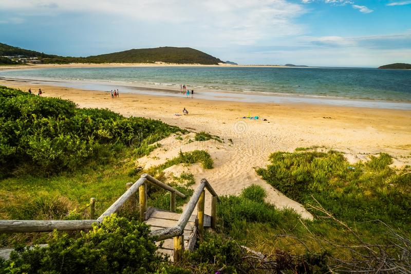 Port Stephens beaches and view of the ocean in New South Wales, Australia royalty free stock photo