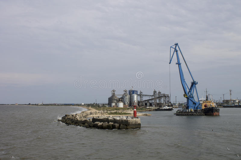 Port sur le ferry de Kerch crimea photographie stock
