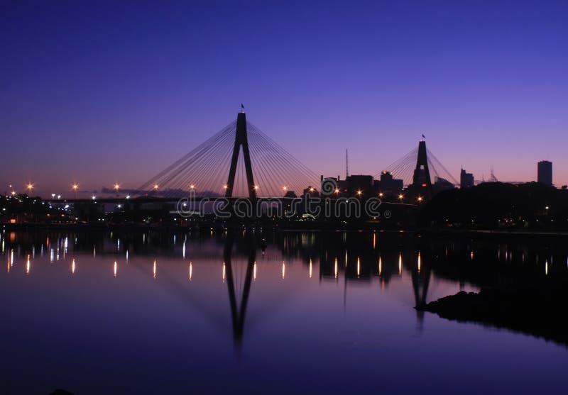 port Sydney de passerelle de l'australie d'anzac image stock