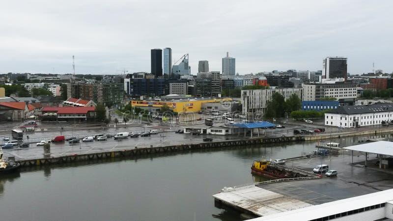 Port of Tallinn. Estonia pier cargo stock image