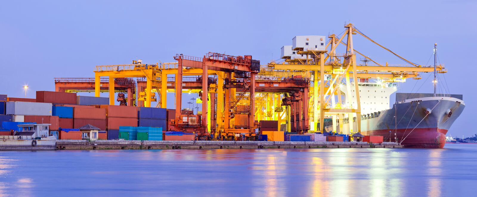 Port Terminal Panorama Industry stock images