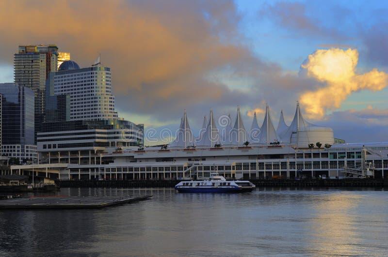 port terminal vancouver royaltyfria foton