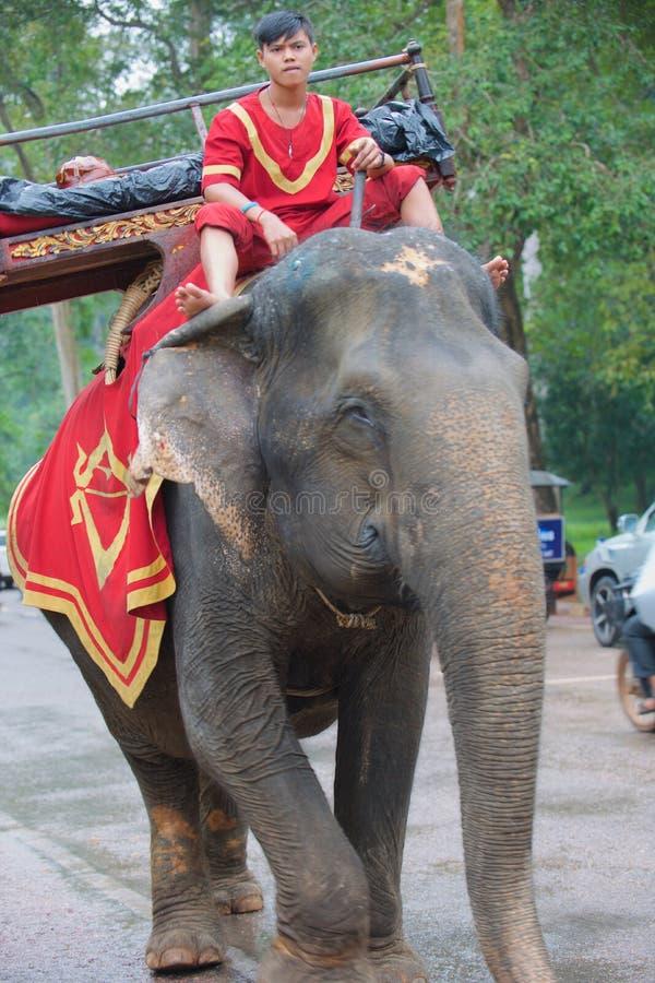 Port till den Angkor elefanten royaltyfri foto